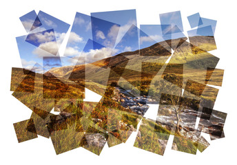 highland river abstract