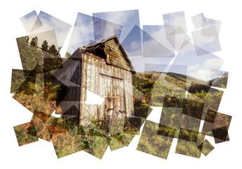 rundown shack abstract