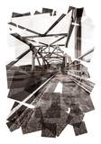 steel frame bridge abstract