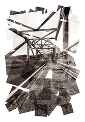 steel frame bridge abstract