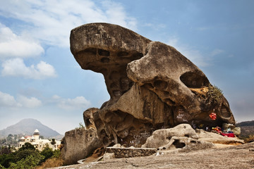 Toad Rock on a hill, Mount Abu, Sirohi District, Rajasthan, India