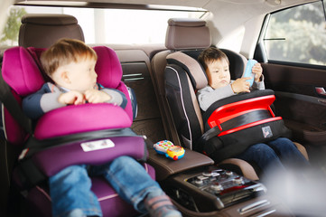 Luxury baby car seat for safety with happy kids