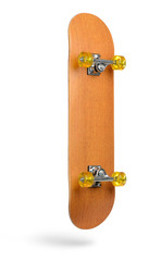 Skateboard deck isolated on white background