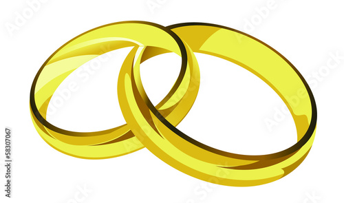 golden rings illustration