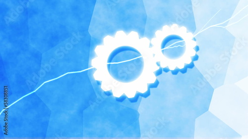 Conceptual image on cloud computing theme.