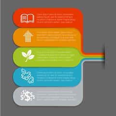 Infographic minimal design vector template.