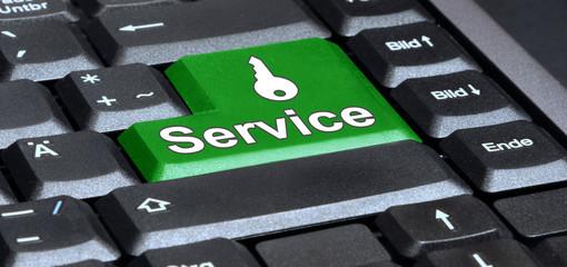 service taste in grün