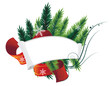 Pine Tree Christmas Wreath and paper roll