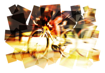 abstract cycling blur