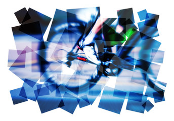 cyclist motion blur abstract