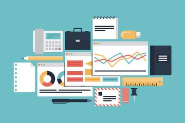Business productivity presentation illustration concept