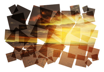 creative beach abstract