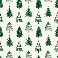 pattern of christmas trees