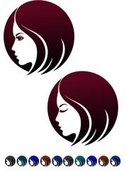 Female profile,  logo template