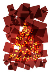 christmas abstract composition