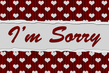 I'm Sorry Message