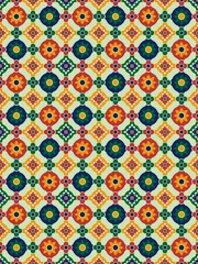 Abstract spanish mosaic illustration pattern. EPS Vector file
