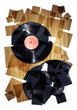vinyl records collage