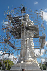 Restoration of the sculpture of Jesus Christ, Havana,Cuba