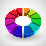 Vector Illustration of abstract rainbow circle