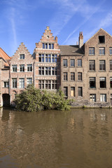 River channel and buildings in Gent