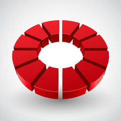 Vector Illustration of abstract red circle