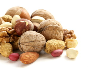 Assortment of different nuts