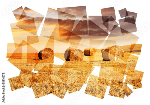 hay bales collage