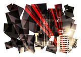 city abstract collage