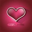 Glossy heart valentin's day card