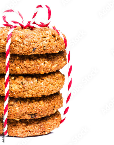 Christmas cookies with festive decoration isolated