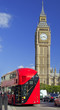 Double-Decker Bus and Westminster Parliament in London