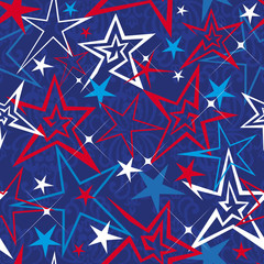 Seamless vector pattern with stars