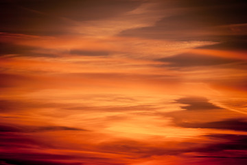Dramatic sunset as sky background