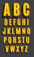 Vecteur rétro police de caractères. Alphabet Vintage