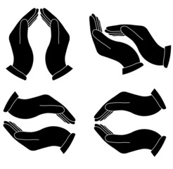 Vector hands icons
