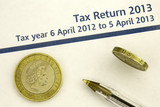 tax return 2013 form and money