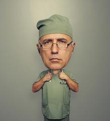 bighead doctor in glasses