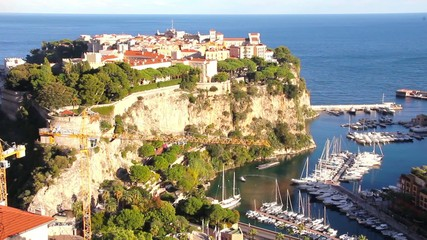 Aerial view of the Prince's Palace, Monaco