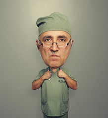 funny dissatisfied bighead doctor