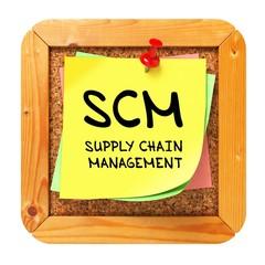 SCM. Yellow Sticker on Bulletin.