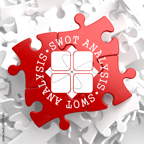 SWOT Analisis on Red Puzzle.
