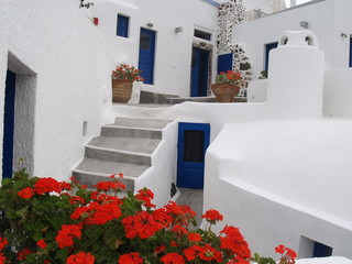 Santorini Courtyard,Greece