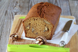 Loaf cake with walnuts and molasses