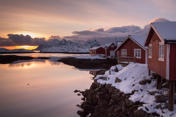 sunrise at lofoten