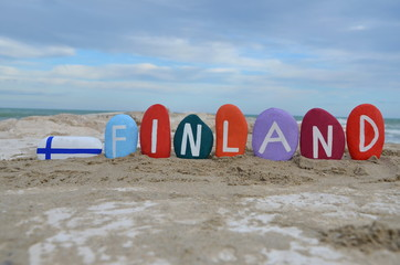 Finland, souvenir on colourful stones