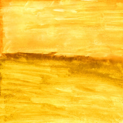yellow ocher autumn texture watercolor abstract form in the sea
