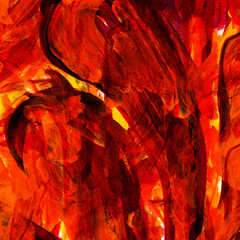 fire red watercolor background