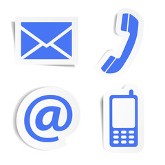 Website Contact Icons Stickers