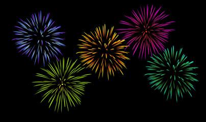 Feuerwerk, schwarzer Hintergrund [V] [kw-de]